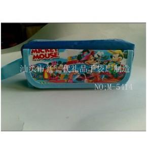 汕头迪士尼笔袋M-5414 广东卡通米奇笔袋公司 米尼笔袋厂家-印刷文字笔袋批发-移动铅笔袋定做