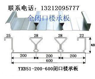 北京600闭口楼承板厂家yxb48-200-600