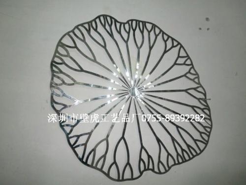 【304不锈钢荷叶壁挂 墙面装饰挂件 金属艺术