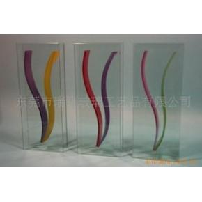 特价销售平板迷你玻璃花瓶V-4455***