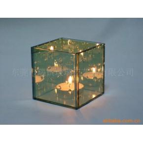 特价销售小型玻璃烛台8*8*8