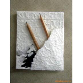 仿古手工艺术纸笔记本 纸质