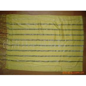 色织条子围巾 170*60+20