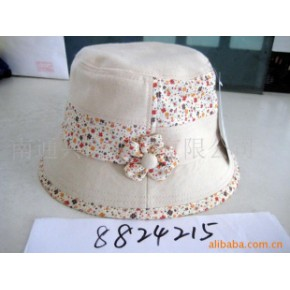 日单小孩童帽盆帽 棉质 童帽