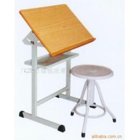 美术台椅 乐华家具 学生用