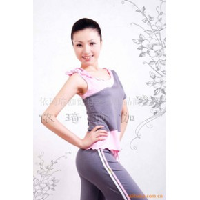依琦女装夏款韩版单肩背心瑜伽服
