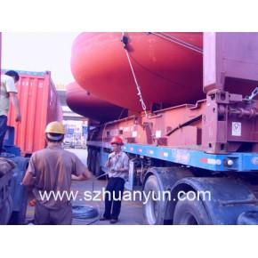 专业提供盐田蛇口赤湾港码头框架箱平板柜凳仔柜绑扎加固