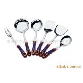 【】供应:368弧型电木夹柄厨房用铲套装、不锈钢厨具、