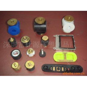 橡胶包铜件,硅胶包铜件,硅橡胶包胶件