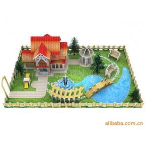 建筑模型,手工教具,自装房屋,花园模型