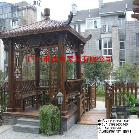 别墅凉亭,广州别墅花园凉亭