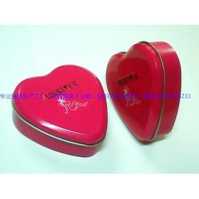 心形避孕套铁盒,心形安全套铁盒