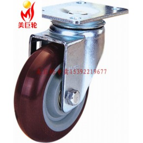 GLOBE中型3寸红色超级聚氨脂活动轮
