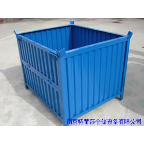钢制料箱 折叠式箱式托盘 镀锌料箱15365162264