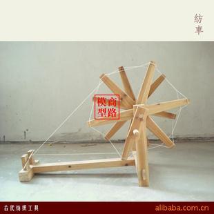 纺车模型,木制品,木制工艺品