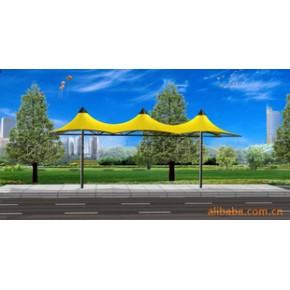 膜结构候车亭公交站台 钢及合金结构钢