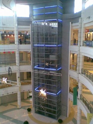 【大连玻璃雨棚钢结构采光顶水幕墙观光电梯制作安装