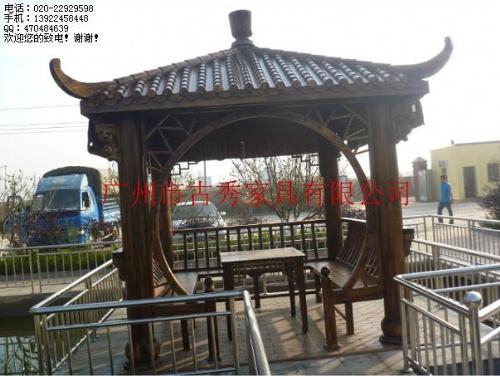 木结构凉亭,户外园林景观装饰