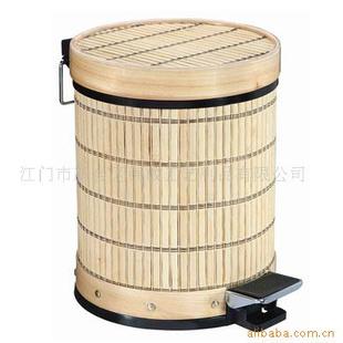 竹制垃圾桶 垃圾桶 木脚踏垃圾桶