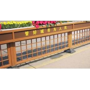 户外木纹金属装饰新材料金属仿木交通护栏01
