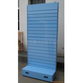 立拓金属槽板展示架,兰色展示架20090128
