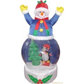 工艺品圣诞雪人+80CM雪花球圣诞老人圣诞装饰