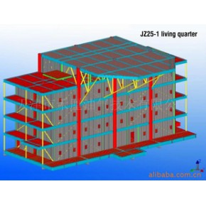 提供海洋石油平台生活楼模块设计服务