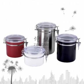 不锈钢可视彩色密封罐