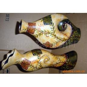 陶瓷花瓶 花瓶 彩陶 山水花卉