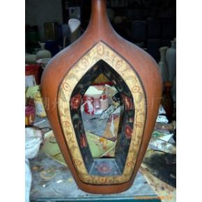 陶瓷工艺花瓶 花瓶 红陶