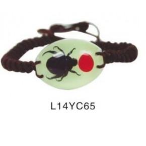 酷爱琥珀饰品,昆虫琥珀鼠标,昆虫标本手链