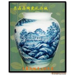 雕刻手绘陶瓷花瓶,艺术瓷,陈设瓷