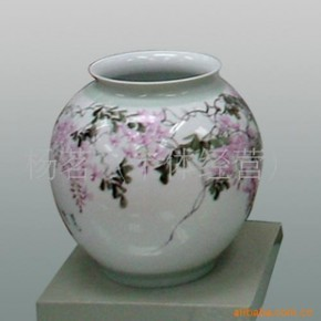 雕刻手绘陶瓷花瓶,名人名作艺术瓷