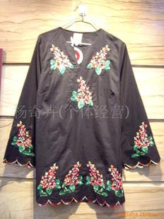 古兰姬绣花泰国民族服装 B85黑