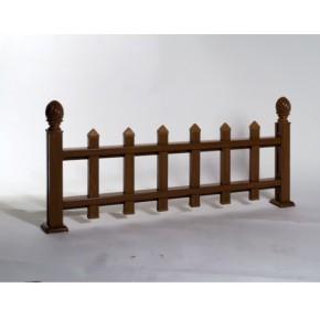草坪护栏|木纹型材护栏|仿木护栏