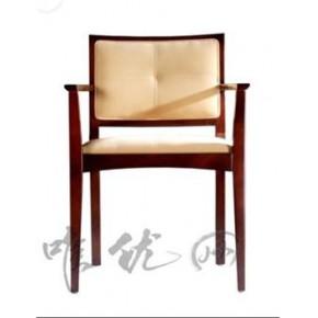 现代款樱桃木色布艺书椅|简约美观:唯优网书房家具定制