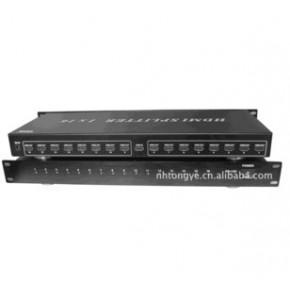 仝丽HDP116 1进16出 高清HDMI分配器 hdmi视频分配器 支持3D