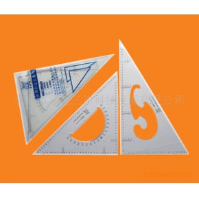 45cm塑料多用斜边三角尺,文体办公组合文具
