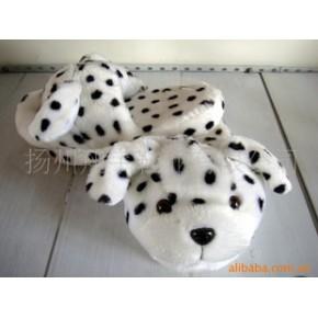毛绒玩具拖鞋/家居地板拖鞋/斑点狗 (订货)
