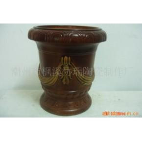 工艺陶瓷花盆容器 中温漆彩