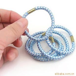 橡皮筋,橡筋圈 ,时尚头饰 提花扎头圈