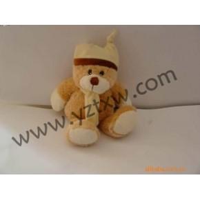 戴帽围巾熊玩具 围巾熊