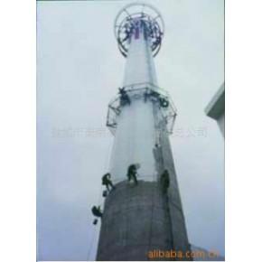 烟囱顶口云梯安装  烟囱平台检测安装