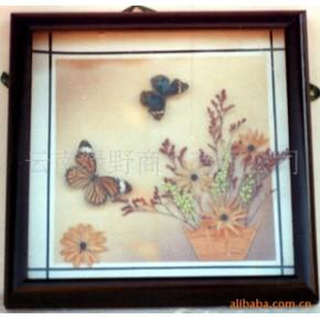 蝴蝶艺术饰品 天然实木 相框型