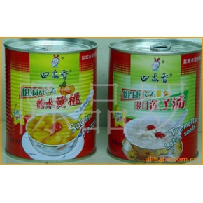 批发供应 食品代理 休闲食品  糖水黄桃 黄桃罐头