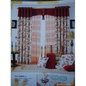 布艺窗帘 布帘 垂帘 透明型