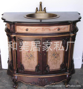 欧式家具仿古彩绘家具/美式仿古家具/浴室柜/洗手柜