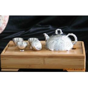 【优质】云南特色礼品 中国斑锡香竹玲珑茶具5件套