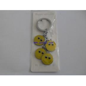 广州钥匙扣制作 ,钥匙挂件定做,PU加金属钥匙扣订做,茗莉工