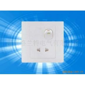 一位单控开关带二极插座、开关带二极插座、建筑电器